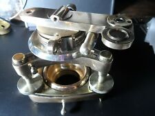 More details for interesting solid brass survayors level theodolight sight?