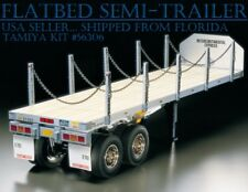 FLATBED SEMI-TRAILER 1/14 Scale Model Kit Big Rig Truck Series RC Tamiya 56306