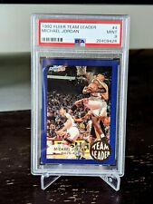*QUICK SALE, SHARP!!* 1992 Michael Jordan Team Leader PSA 9 mint rare insert