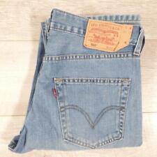 """Mens Blue Stonewashed LEVI 501 32""""W 36""""L Vintage Levis Denim Jeans 501s #F3275"""