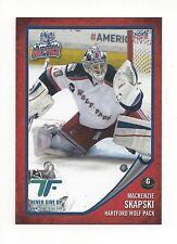 2014-15 Hartford Wolf Pack (AHL) Mackenzie Skapski (Orlando Solar Bears)