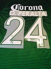 Club America 3rd Green Soccer Jersey Name Set Nombre y Numero O. Peralta #24