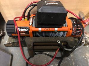 Rhino Electric Recovery Winch 13500lb Wireless 4x4 Car Heavy Duty