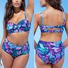 Plus Size Women Bikini Set Swimming Costume High Waist Padded Swimwear Swimsuit