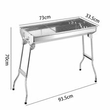 Barbecue Grill Portable Folding Stainless Steel Easy Disassembly Charcoal