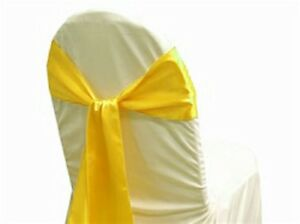 PACK OF 50 Satin Chair Cover Sash Bow Sashes Wedding Banquet decor FREE SHIPPING