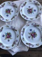 Set Of 4 Harmony House Dresdania Dessert/bread Plates Purple Retired 1950s Japan