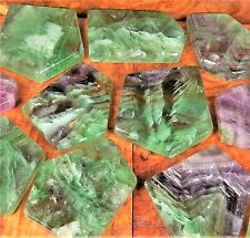 Rainbow Fluorite Slab Natural Tile Gemstone Slice BR16 Healing Crystals Stones