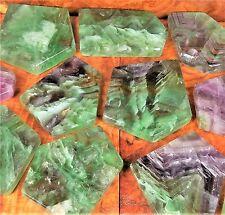 Rainbow Fluorite Slab Natural Tile Gemstone Slice BR16 Healing Crystals Stones