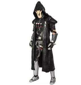 Overwatch Reaper Costume Holloween Cosplay Party Fancy Dress