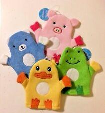 Baby Bath Wash Mitt Gloves Towel Sponge Animal Faces Child Kids Bathing Time Fun