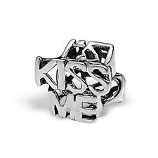 925 Sterling Silver KISS ME Funny Girlfriend/Wife Bracelet Charm Bead Gift B610
