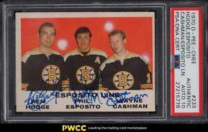 1970 O-Pee-Chee Hockey Phil Esposito & Ken Hodge Line PSA/DNA 10 AUTO PSA Auth