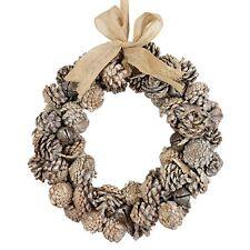 Festive Christmas Wreath - Stunning Cone Wreath with Christmas Sleigh Bells