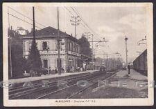 VARESE ALBIZZATE 06 SOLBIATE STAZIONE TRENO CAPOSTAZIONE Cartolina viagg. 1951