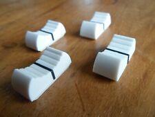 X 4 faders potentiomètre bouton table de mixage BLANC X 4 NEUF/ FIXATION 8 mm