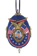 """SATIN BEADED CHRISTMAS ORNAMENT KIT - """"FOREVER HONOR"""" OUR HEROES AND PATRIOTS"""
