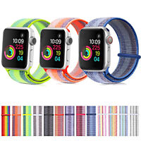 CINTURINO per Apple Watch series 5 4 3 2 1 SPORT RUN NYLON LOOP 44 42 40 38 mm