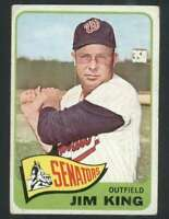1965 Topps #38 Jim King VG/VGEX Senators 68139