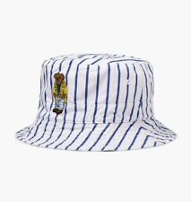 Polo RALPH LAUREN Bear Reversible Crested Bucket Hat Size L/XL
