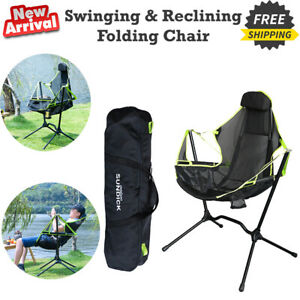Camping outdoor aluminum alloy swinging and reclining folding rocking chair new