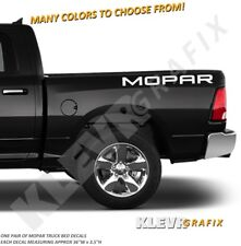 Mopar Bed Vinyl Decals (Solid) for Dodge RAM 1500 2500 HEMI Truck Decal Graphics