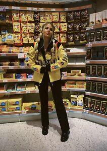 vintage nascar jacket m&m JH Design Yellow