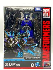 New listing Hasbro Transformers Studio Series #63 Deluxe Topspin New In Hand !