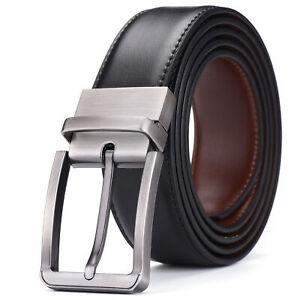 Mens Belt Belts Real New Genuine Buckle Leather Trouser Tan Brown Black Jeans