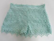 Be Beau Aqua Lace Shorts size 8