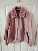 """BM WOMENS BROWN SOFT FAUX SUEDE COAT SIZE 16 LENGTH 28 PIT TO PIT 22 """" FULL ZIP"""