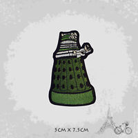 Dalek- Doctor Who Patch Iron On Patch Sew On Embroidered Patch