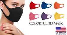 Unisex 3D Washable Reusable Face Mask Bright Colors Made in Korea - SET OF 7