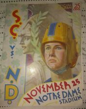 1939 Notre Dame-Southern California Program Trojans Upend Irish EX!!