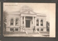Vtg Postcard Public Library Galion Ohio OH O  back early Campbells book store