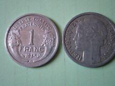 PIECE DE 1 FRANC 1945 C  MORLON en  ALUMINIUM (assez rare)