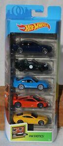 Hot wheels HW Exotics 5 Pack Cadillac, Jaguar, Porsche FNQHotwheels FH544