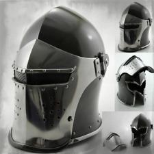 Wearable Barbuta Helmet Medieval Knights Templar Crusader Armour Halloween Gift