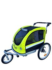 Booyah Large Pet Dog stroller and Bike Bicycle Trailer with Suspension Green