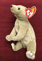 Ty BEANIE BABY Almond The Bear DOB April 14, 1999