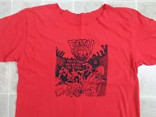 Used/Cut FILTH This Is Why We Are T-SHIRT Mens XL Crust Punk Red Mohawk Sewer cd
