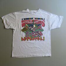 Vintage 1995 Atlanta Braves T Shirt World Series Champions Baseball xl