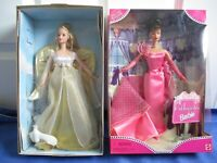 Angelic Inspirations 1999-TRU Pink 1998 Great Condition Barbie NRFB Lot-2 Dolls