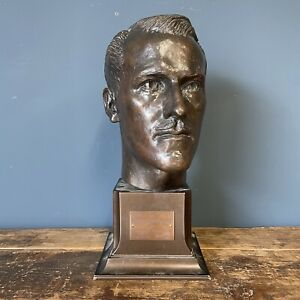 Antique Bronze Bust Of The Whittyshaw Wonder By Teddy Palmer Dated 1948 Busts