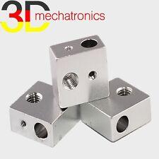 Heater Block MK8 20x20x10mm Alu Extruder Hotend MK7 RepRap 3D Drucker Heizblock