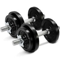 Yes4All Cast Iron Adjustable Dumbbells Set - 60lbs