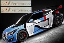 2x Hyundai N Performance Logo Aufkleber Sticker 200 mm Tuning i20 i30 i40 silber