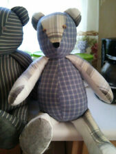 """22"""" Customized Handmade Memory Bear from a loved one's clothing."""