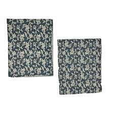 2 Thomas O'Brien Luxury Shams Pair King Pillowcases Gray White Print Button Back