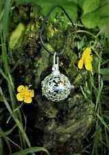 """Wiccan  Herb Amulet for Love  Pendant 24"""" Long  Filigree Boxed Witchcraft"""